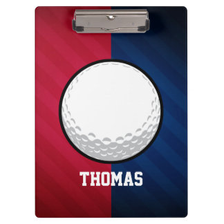 Golf Ball; Red, White, and Blue Clipboard