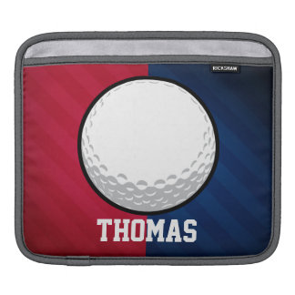 Golf Ball; Red, White, and Blue iPad Sleeve