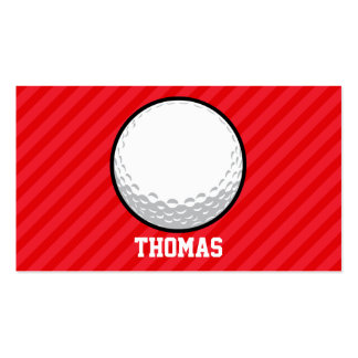 Golf Ball; Scarlet Red Stripes Business Card