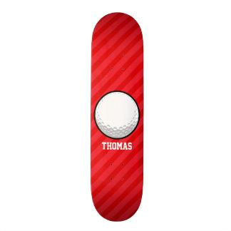 Golf Ball; Scarlet Red Stripes Skate Boards