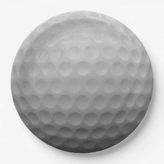 Golf Ball 9 Inch Paper Plate