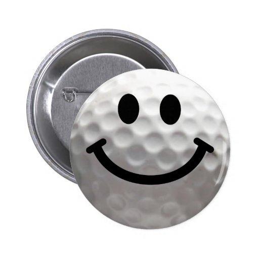 Golf ball smiley buttons