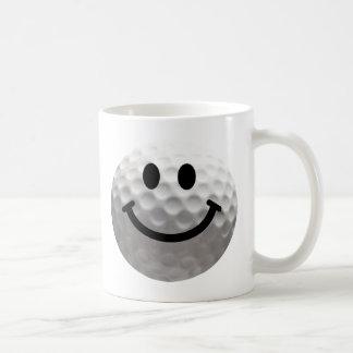 Golf ball smiley coffee mug