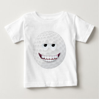 Golf Ball Smiley Face 2 Baby T-Shirt