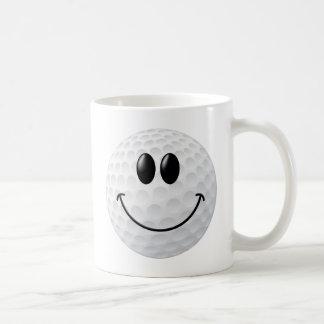 Golf Ball Smiley Face Coffee Mugs