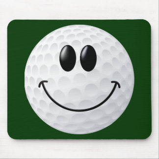 Golf Ball Smiley Face Mouse Pad