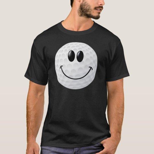Golf Ball Smiley Face T-Shirt