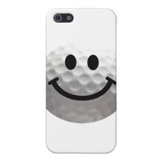 Golf ball smiley case for iPhone 5
