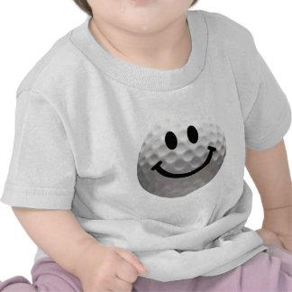 Golf ball smiley t-shirts
