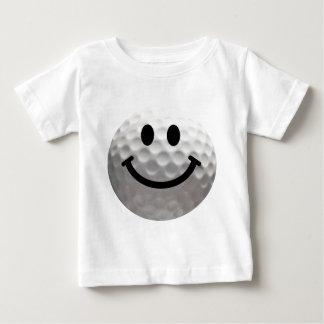 Golf ball smiley tshirt