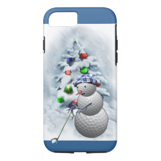 Golf Ball Snowman Christmas iPhone 8/7 Case