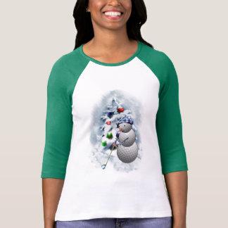 Golf Ball Snowman Christmas T-Shirt
