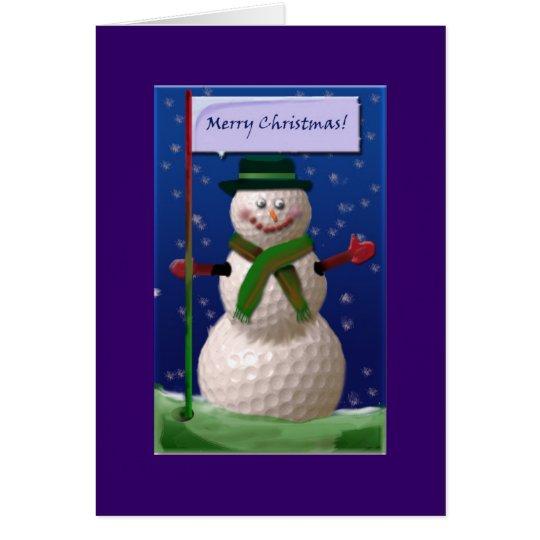 Golf Ball Snowman for the Golf Nut Card