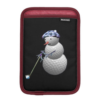 Golf Ball Snowman iPad Mini Sleeve