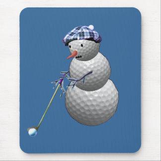 Golf Ball Snowman Mouse Pad