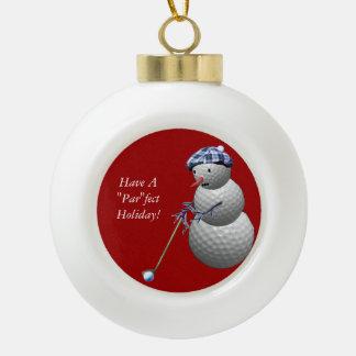 Golf Ball Snowman Ornaments