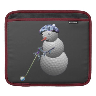 Golf Ball Snowman Sleeve For iPads