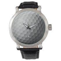 golf ball sports design wristwatch