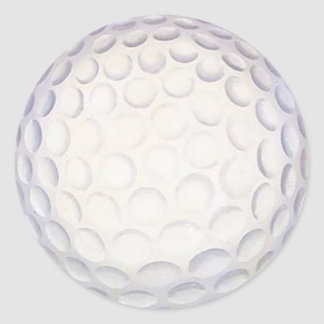 Golf Ball Sports Stuff Is It Real? Classic Round Sticker
