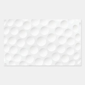 golf ball rectangle stickers