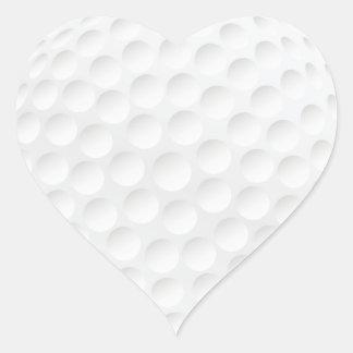 golf ball heart stickers
