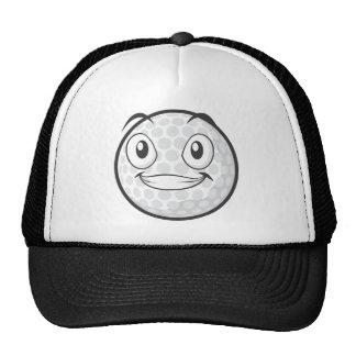 Golf Ball Sticker  Happy Golf Ball Cartoon Sticker Trucker Hat