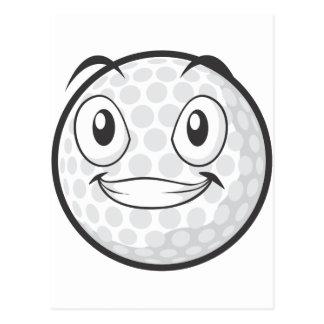 Golf Ball Sticker  Happy Golf Ball Cartoon Sticker Postcard