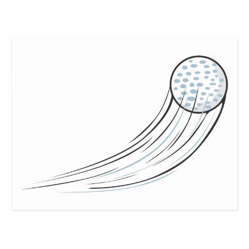 Golf Ball Swish Postcard