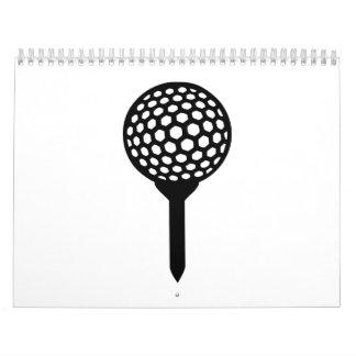 Golf Ball tee Wall Calendar