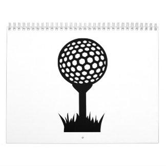 Golf Ball tee Calendar