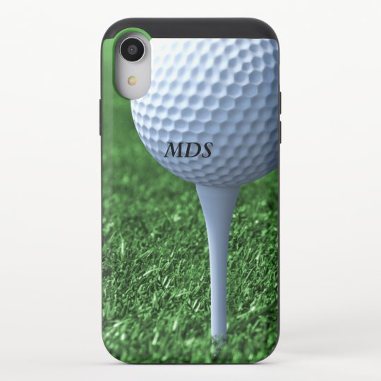 Golf Ball Tee Off Monogram Golfers Teeing Ground Uncommon Iphone Case Zazzle Com
