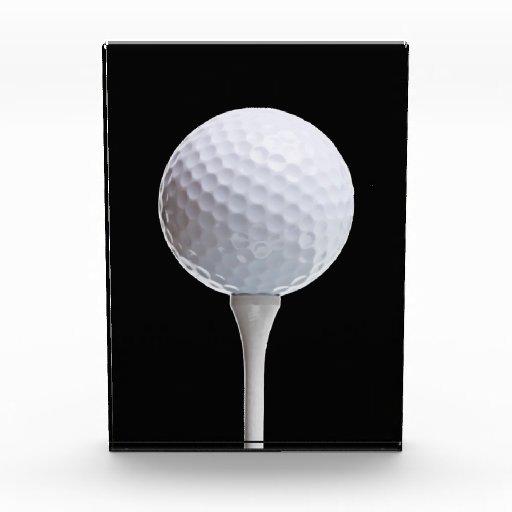 Golf ball tee on black customized template acrylic