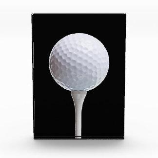 Golf Ball & Tee on Black - Customized Template Award