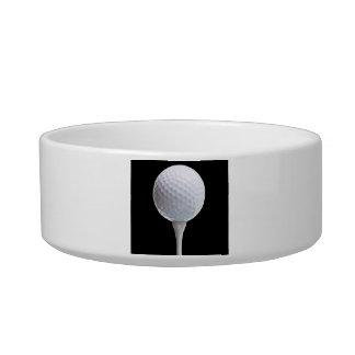 Golf Ball & Tee on Black - Customized Template Bowl