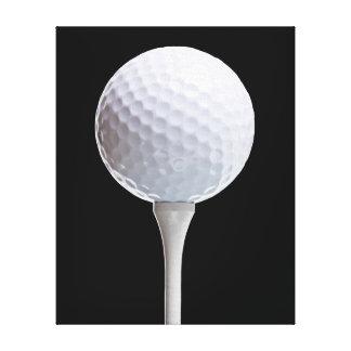 Golf Ball Tee on Black - Customized Template Gallery Wrap Canvas