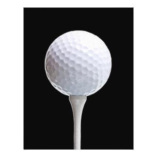 Golf Ball & Tee on Black - Customized Template Flyer