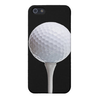 Golf Ball & Tee on Black - Customized Template iPhone SE/5/5s Cover