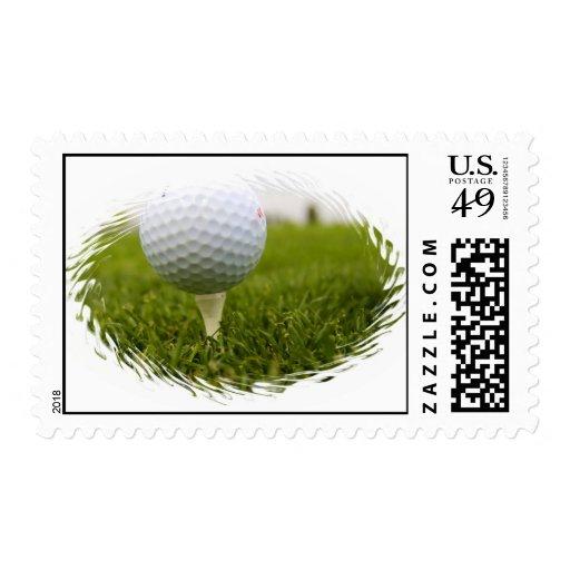 Golf Ball Tee on Stamp