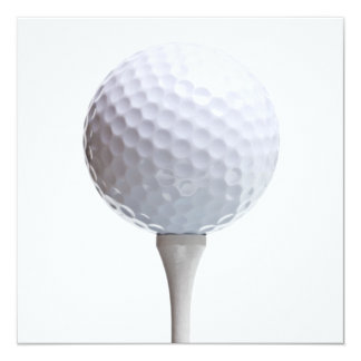 Golf Ball & Tee on White Customized Template