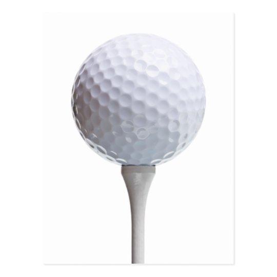 Golf Ball & Tee on White Customized Template Postcard
