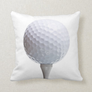 Golf Ball & Tee on White Customized Template Throw Pillow