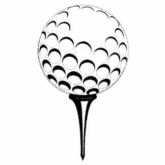 golf ball & tee sculpture standing photo sculpture