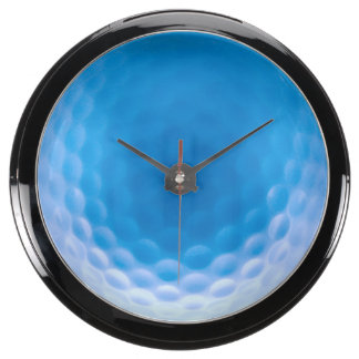 Golf Ball Texture Dimples Arctic Blue Fish Tank Clock