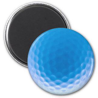 Golf Ball Texture Dimples Arctic Blue Fridge Magnet