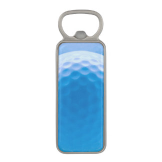 Golf Ball Texture Dimples Arctic Blue Magnetic Bottle Opener