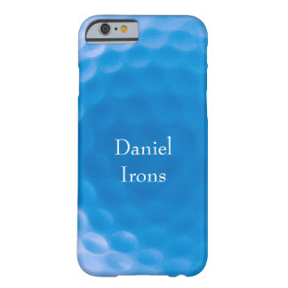Golf Ball Texture Dimples Arctic Blue_personalized Barely There iPhone 6 Case