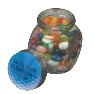 Golf Ball Texture Dimples Arctic Blue_personalized Glass Candy Jar