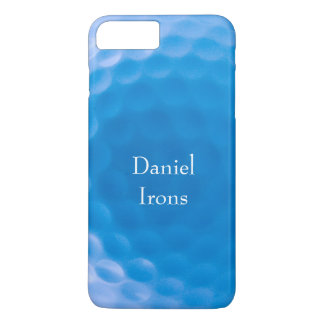 Golf Ball Texture Dimples_Arctic Blue_personalized iPhone 7 Plus Case