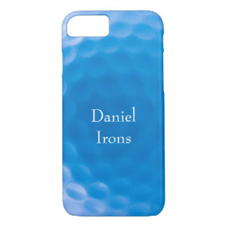 Golf Ball Texture Dimples Arctic Blue_personalized iPhone 8/7 Case