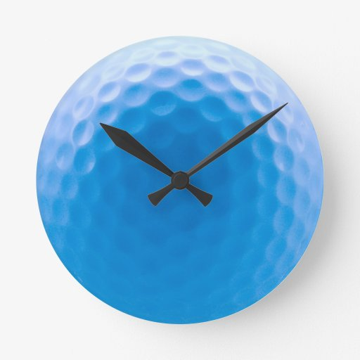 Golf Ball Texture Dimples Arctic Blue Round Wall Clock
